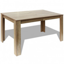 vidaXL Mesa de jantar 140x80x75 cm carvalho