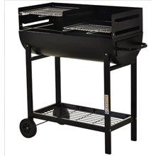 Barbecue de carvão com dois grelhadores Outsunny
