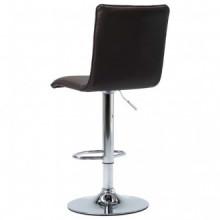 vidaXL Cadeira de bar couro artificial castanho