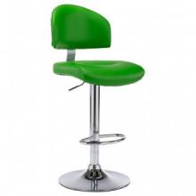 vidaXL Banco de bar couro artificial verde