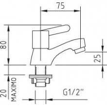 Torneira simples lavatório - CLEVER