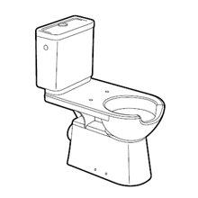 Sanita com tanque baixo saida horizontal Access...