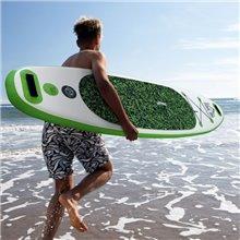 Prancha Paddle Surf verde insuflável com remo...