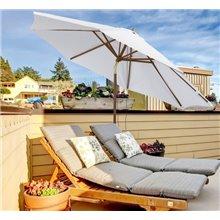 Chapéu de sol reclinável Café Outsunny
