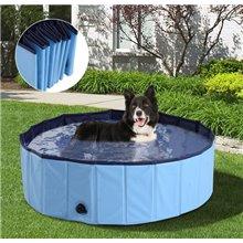 Piscina ou banheira para animais 100cm azul PAWHUT