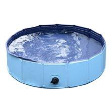 Piscina ou banheira para animais 120cm azul PAWHUT