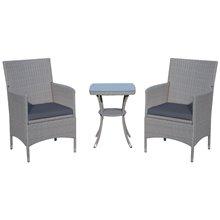 Conjunto elegante de 2 cadeiras e mesa ratán...