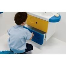 Saboneteira para lavatório WCKIDS 43 com orifícios para acessórios - Unisan Sanindusa