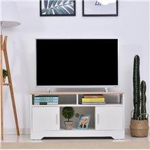 Móvel de televisão com 3 estantes e 2 armários...