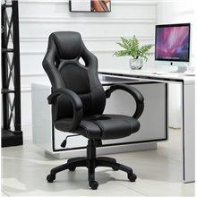 Cadeira executiva de escritorio preta Homcom
