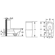 Sanita Ideal tanque baixo - TEGLER