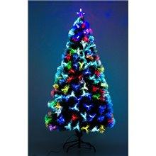 Árvore de natal media com fibra óptica 150cm...