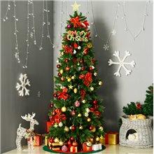 Árvore de natal estreita 210cm Homcom