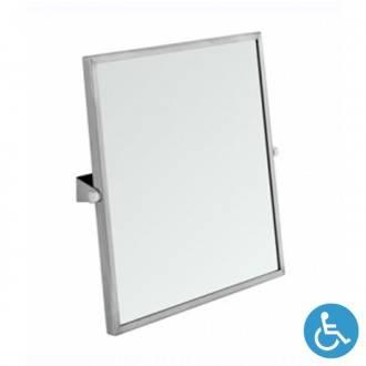 Espejo inclinación ajustable WCCARE 60x65 INOX