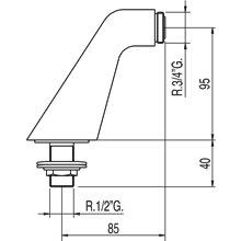 Cotovelo adaptador para banho-duche TRES