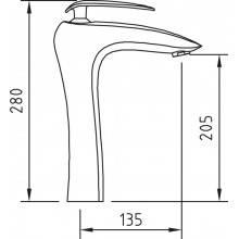 Torneira alta de lavatório AUDE - CLEVER