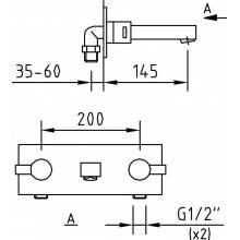 Torneira de encastrar Bimini para lavatório - CLEVER