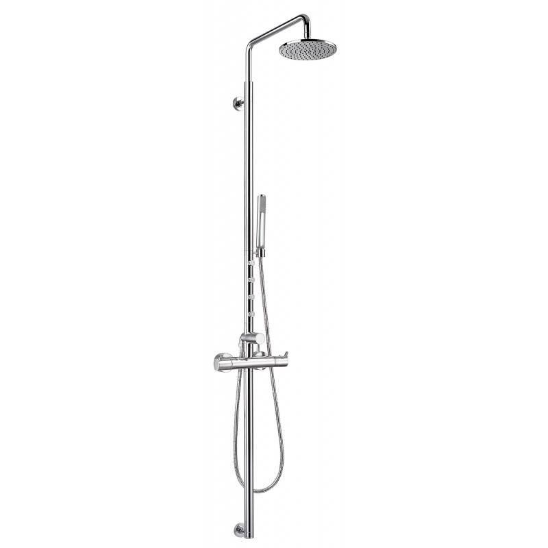 Coluna termostática de 4 jatos Caiman Elegance para duche - CLEVER