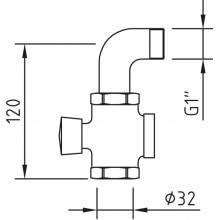 Botão de pressão para urinol temporizado - CLEVER