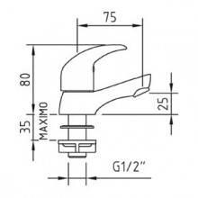 Torneira simples para lavatório - CLEVER