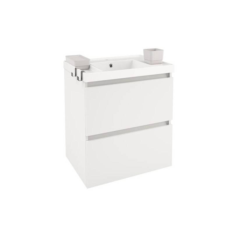 Móvel com lavatório de resina 60 cm Branco B-Box BATH+