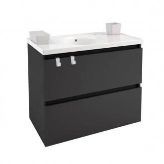 Móvel com lavatório de porcelana 80 cm Antracite B-Box BATH+