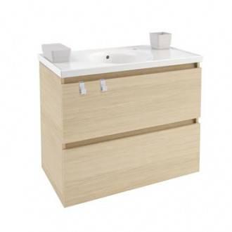 Móvel com lavatório de porcelana 80 cm Carvalho nature B-Box BATH+