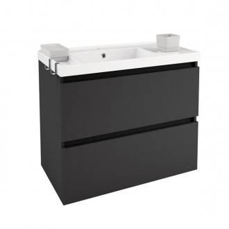 Móvel com lavatório de resina 80 cm Antracite B-Box BATH+
