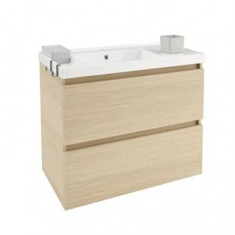 Móvel com lavatório de resina 80 cm Carvalho nature B-Box BATH+