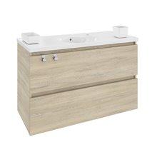 Móvel com lavatório de porcelana 100 cm Carvalho nature B-Box BATH+