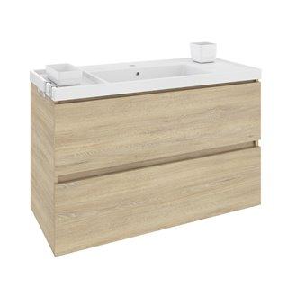 Móvel com lavatório de resina 100 cm Carvalho nature B-Box BATH+