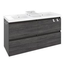 Móvel com lavatório de resina 2 pias 120 cm Antracite B-Box BATH+