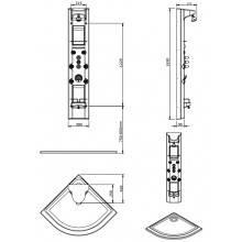Coluna de duche RELAX Angular com termostática - Unisan Sanindusa