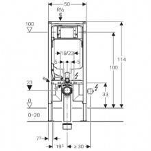 Geberit Duofix com Cisterna Sigma 8cm - GEBERIT