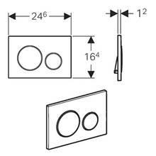 Placa de acionamento Sigma20 Branco-Cromado - GEBERIT