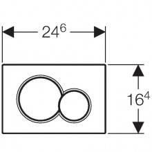 Placa de acionamento Sigma01 Cromado Brilhante/Mate - GEBERIT