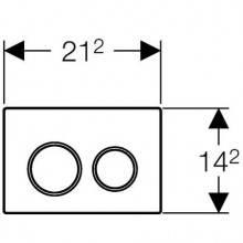 Placa de acionamento Omega20 Branco - GEBERIT