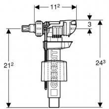 Válvula de alimentação lateral 380 - GEBERIT