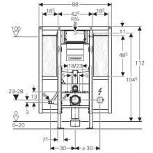 Duofix com Cisterna Sigma12 para mobilidade reduzida - GEBERIT