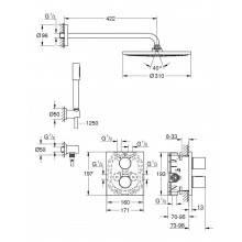 Conjunto de duche termostático Grohtherm 3000 Cosmopolitan RS 310 - GROHE