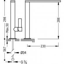 Torneira de lava-louça reta CLASS-TRES