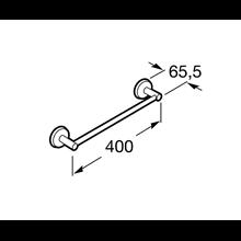 Toalheiro lavatório 40,2cm Twin Roca