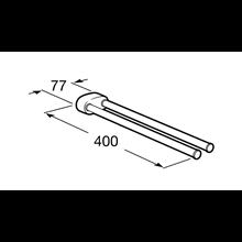 Toalheiro lavatório duplo giratório 2.0 Roca