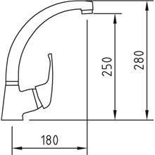 Torneira para lava-louças PANAM 28 - CLEVER