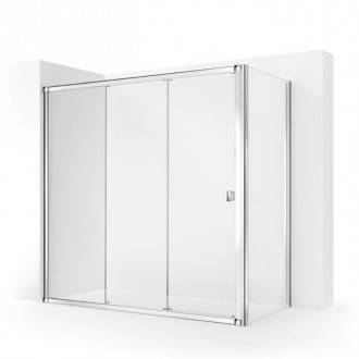 Painel de duche angular com 2 portas de correr TECHNIC COSMIC