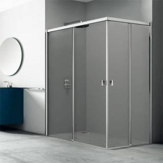 Painel de duche angular 2 portas de correr TECHNIC COSMIC