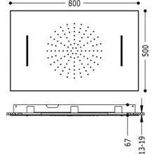 Chuveiro pulverizador de teto Cascata 2 funções...