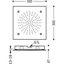 Chuveiro de teto Nebulizador 2 funções TRES 50x50