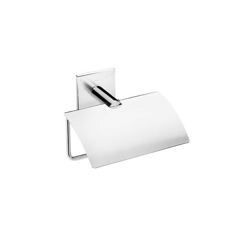 Porta papel com tampa Duo square BATH+