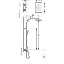 Coluna de duche termostática Branca TRES SLIM